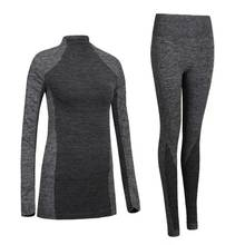 Sexy Women Thermal Underwear Spring Autumn Winter Quick Dry Thermo Sporting Underwear Sets Female Fitness Gymming Long Johns