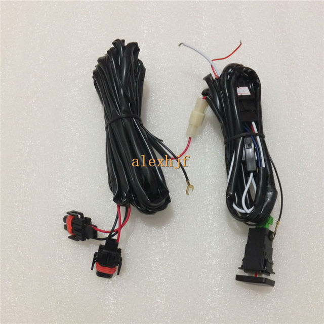 Car Fog Lamp Dedicated Wiring Harness + Switch Case For Toyota, With