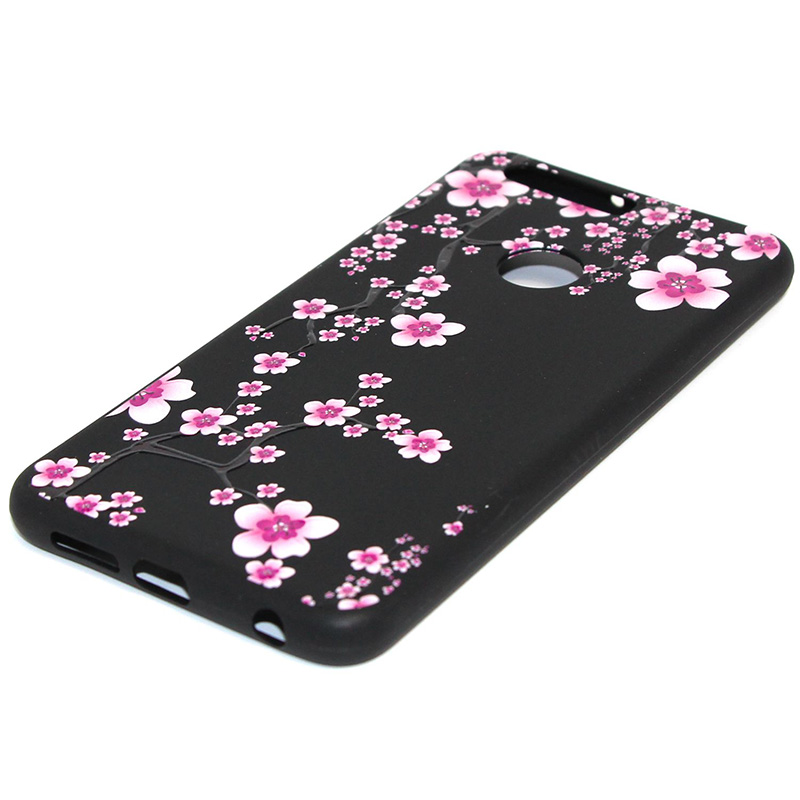 3D Relief flower silicone case huawei honor 8 (31)
