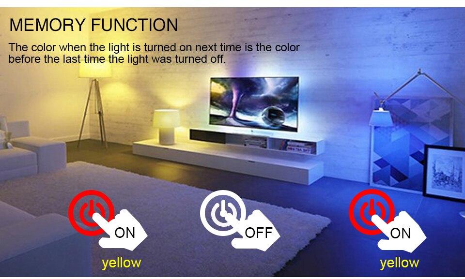 85-265V E27 LED Lamp RGB 15W Bluetooth APP Wifi Control Smart Bulb 10W RGBW RGBWW Light Bulb IR Remote Control Home Lighting (24)
