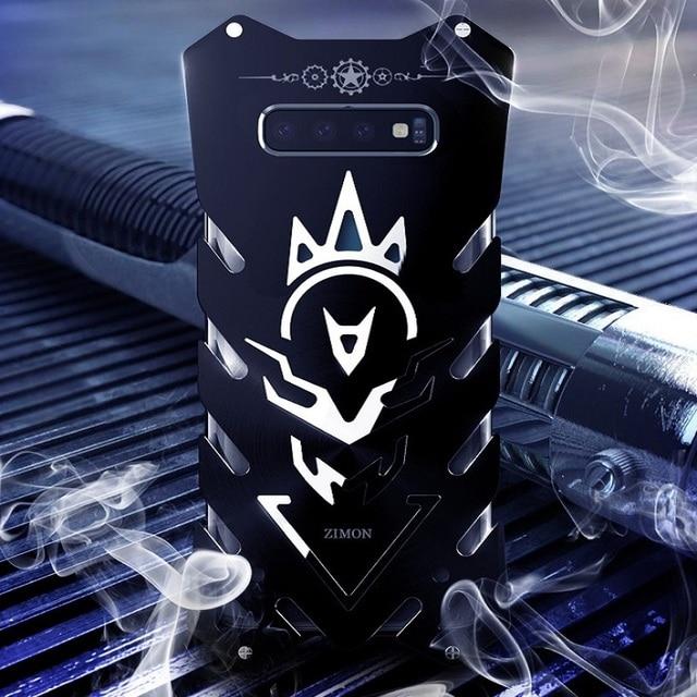 Métal S10 cas Zimon Robuste étui pour samsung S10 plus fundas téléphone étui pour samsung Galaxy S10E Puissant Antichoc De Luxe