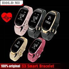 Mantenga mi S3 moda Smart banda pulsera chica mujeres ritmo cardíaco Monitores pulsera smartband señora fitness Tracker wristband