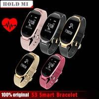 Hold Mi S3 Fashion Smart Band Bracelet Girl Women Heart Rate Monitor Wrist Smartband Lady Female