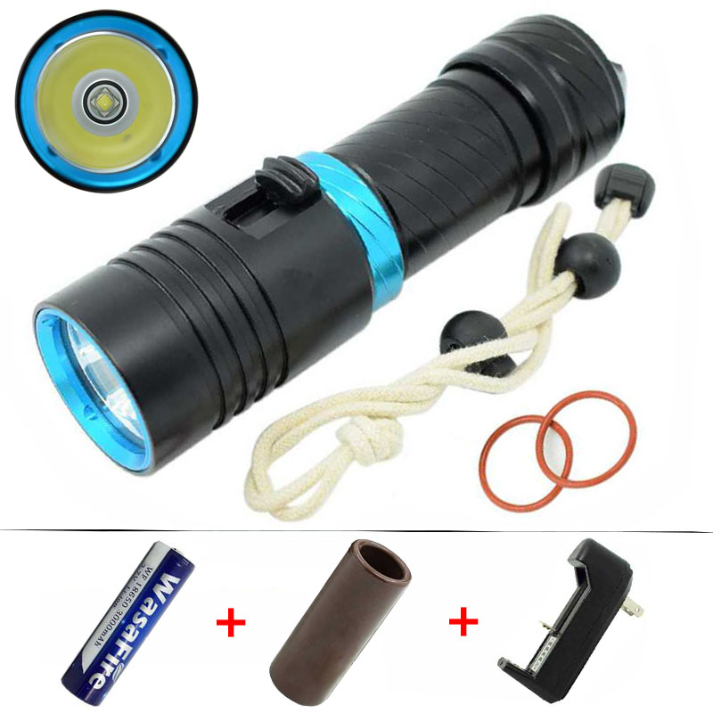 XML L2 LED Diving Flashlight 18650 Waterproof Underwater Flashlights Portable Scuba Lantern Lights 3800lm Dive Torch Light Lamp scuba dive light