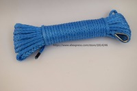 Blue 4mm 15m ATV Winch Line Synthetic Winch Rope UTV Winch Assessaries Towing Rope Off Road
