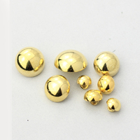 Free shipping Metal gold button mushrooms shirt chiffon shirt button diy child clashers accessories