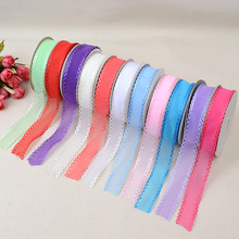 Fashion Ultrasonic Embossing Belt Various Fabric Color Lace Ribbons Bags Clothing Webbing Factory Direct Width For 2.5cm