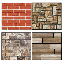 30*30cm 3D Stone Brick Wallpaper Removable PVC Wall Sticker Home Decor Art Paper for Bedroom Living Room Background Decal