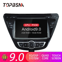 TOPBSNA 7 inch Android 9.0 Car DVD Multimedia Player For Hyundai Elantra Avante GPS navigation 2 Din Car Radio WIFI Headunit RDS
