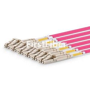 Image 3 - Cable de conexión MPO de 2 m, OM4 hembra A 6 LC UPC dúplex de 12 fibras, Cable de conexión de 12 núcleos, Cable de ruptura OM4, tipo A, tipo B