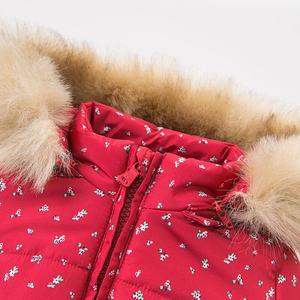 Image 5 - DBM9200 dave bella winter baby meisjes bloemen kapmantel baby gewatteerde jas kinderen hoge kwaliteit jas kinderen gewatteerde bovenkleding