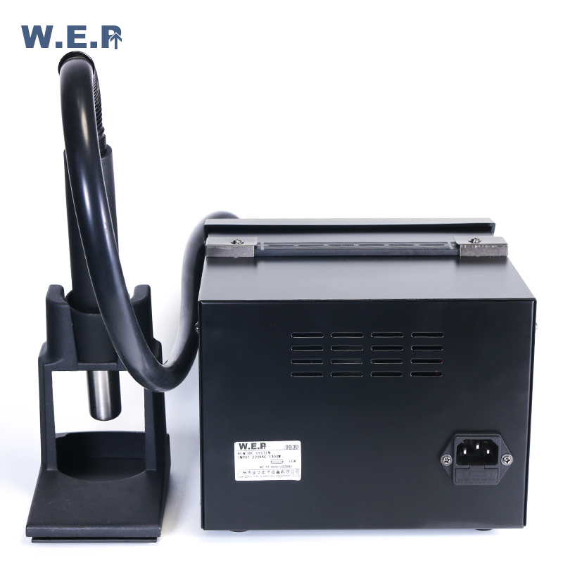 WEP 993D 1300W Microcomputer Temperature Soldering Station LCD Touch Screen  Lead Free Rework Station 500 Celsius Heat Gun
