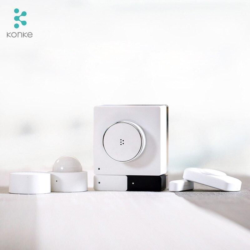 Konke Multifunktionale Gateway Hub zigbee Temperatur Feuchtigkeit Sensor Menschlichen Körper Sensor Drahtlose Schalter Smart Home Kit für xiaomi