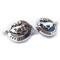 Universal Fit 2pcs Car Styling 40th Anniversary Chrome Fender 3D Mustang Pony Logo Badge Emblem Side