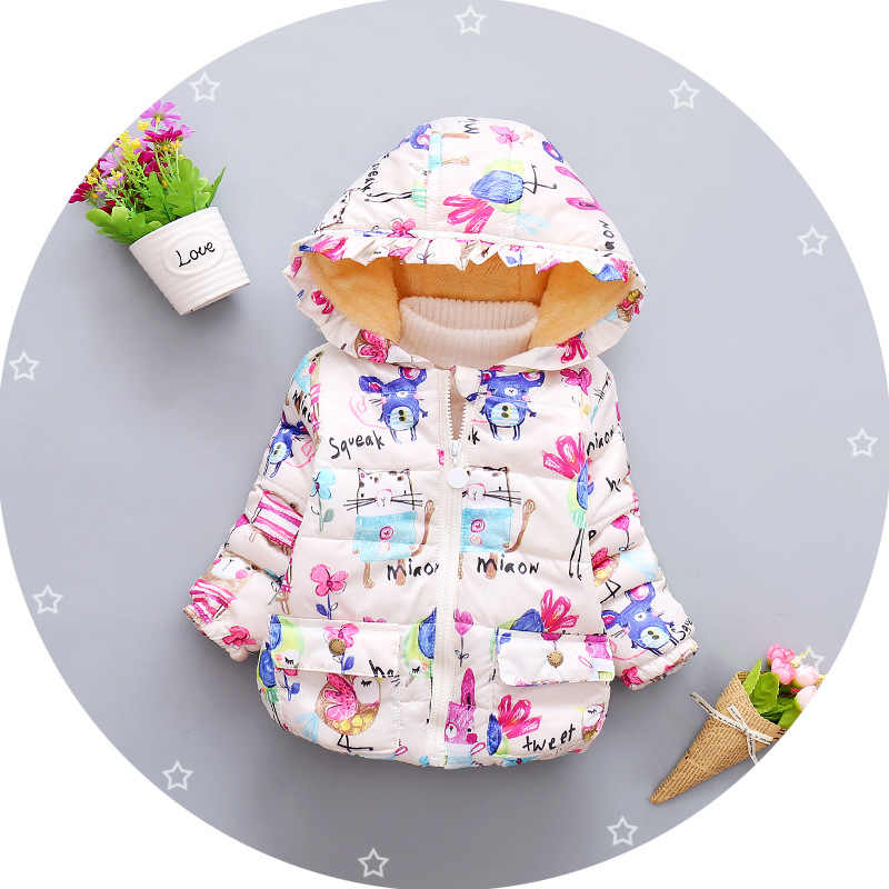 BibiCola girls winter coat for girls parka  infantil boys girls winter jackets children's jackets down coat infant overcoat