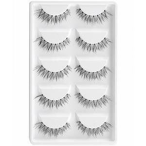 Image 5 - CLOTHOBEAUTY 5 Pairs False Eyelashes, Fake EyeLashes Extension Handmade Natural Soft Invisible Band,Long Thick Reusable Makeup