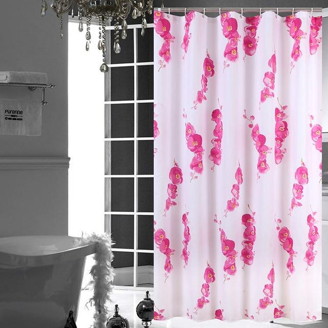 shower curtain shower environmentally friendly. Waterproof Shower Curtain Polyester Plum Blossom Eco-Friendly Bath Screens Rideau De Douche Bathroom Environmentally Friendly E