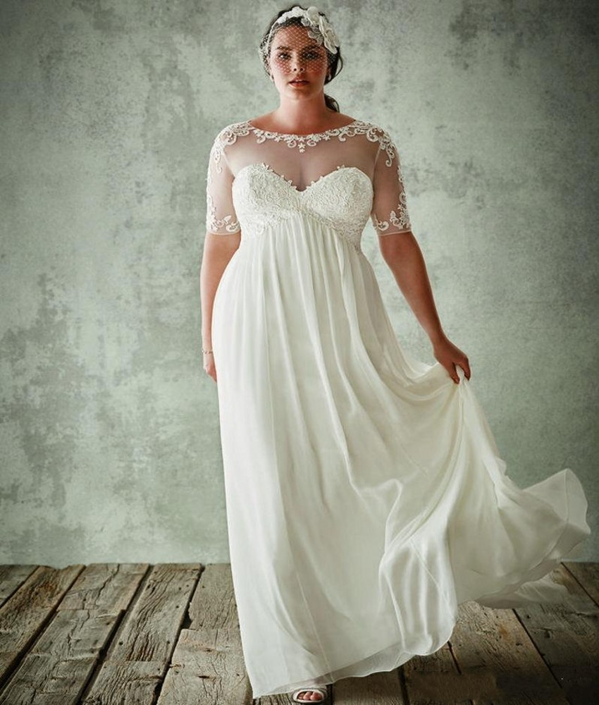 plus size beach wedding dresses 2016 maternity chiffon lace bridal gowns 2017summer sexy cheap modest designer