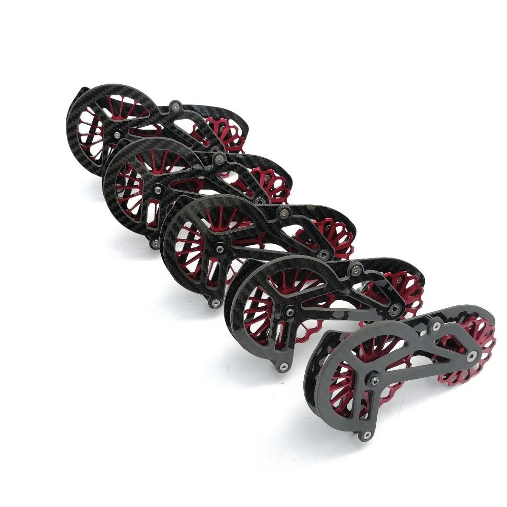 RACEWORK 17 T vélo en céramique en fibre de carbone roulement vélo arrière dérailleur roue de guidage pour shimano 9100/9150/R8000/R8050