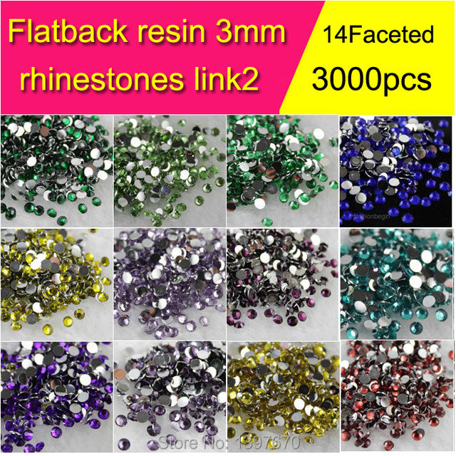 c7b8557fe0 3000pieces/pack 3mm ss12 FlatBack Resin Stone Nail Art Rhinestones Glitters  Nail Art Decorations nail2-in Rhinestones from Home & Garden on ...