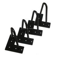 Free Shipping 8 Stool Legs Matte Black 2 Rods Set Of 4 Boxes Feet Metal Cradle