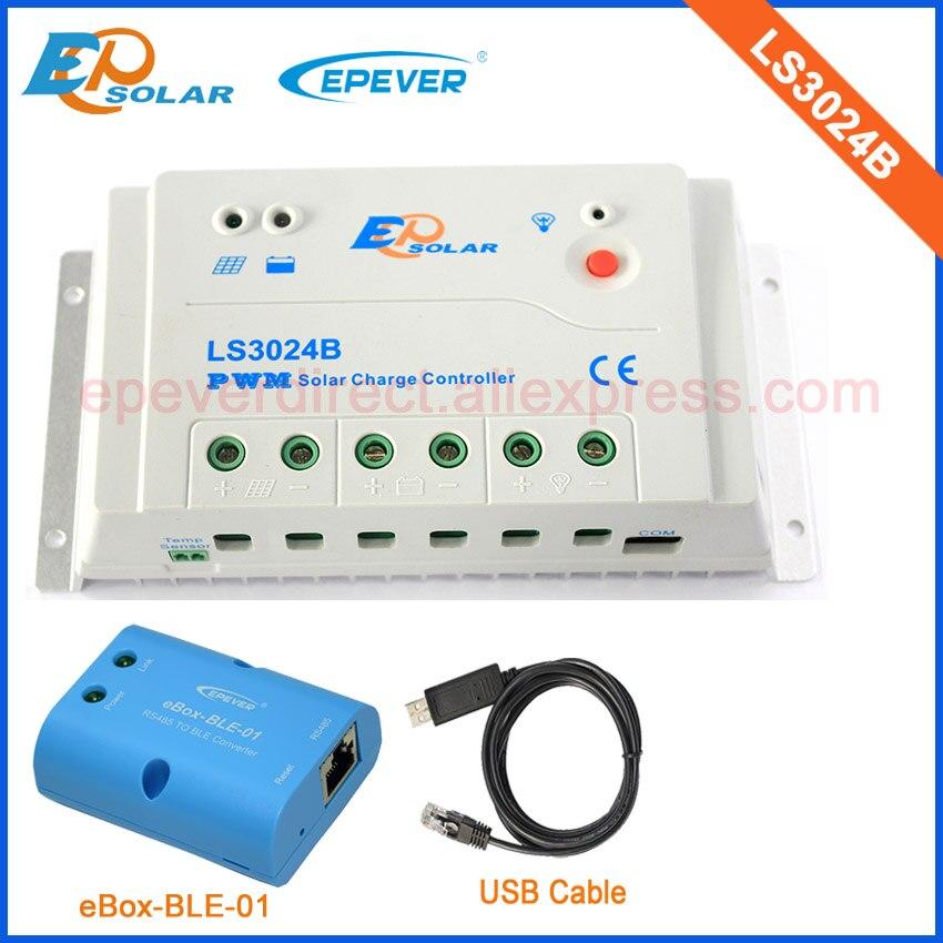 Câble USB conntect régulateur avec conpuer personnel utiliser EPSolar LS3024B produit 30A et fonction bluetooth connecter APP