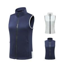 Зимняя женская ветрозащитная жилетка для гольфа, куртка без рукавов из флиса, теплое пальто, спортивный жилет для улицы, куртки, одежда для гольфа D0685