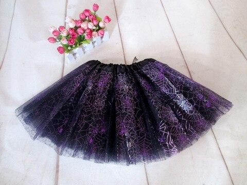 halloween tutu saia roxa aranha tutus meninas saia saias de danca tutu