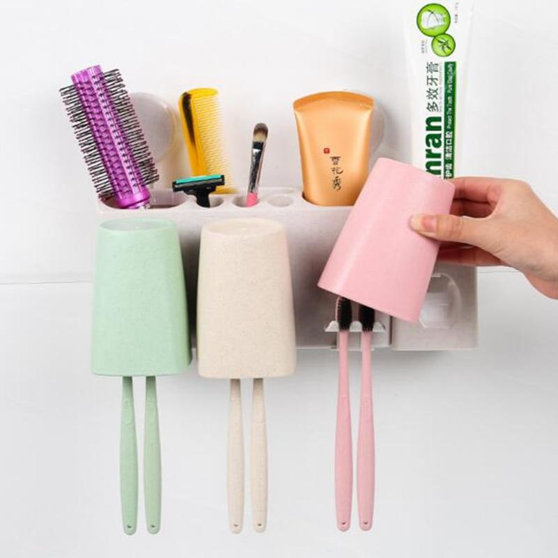wheat straw PP bathroom set high quality bathroom products three ...