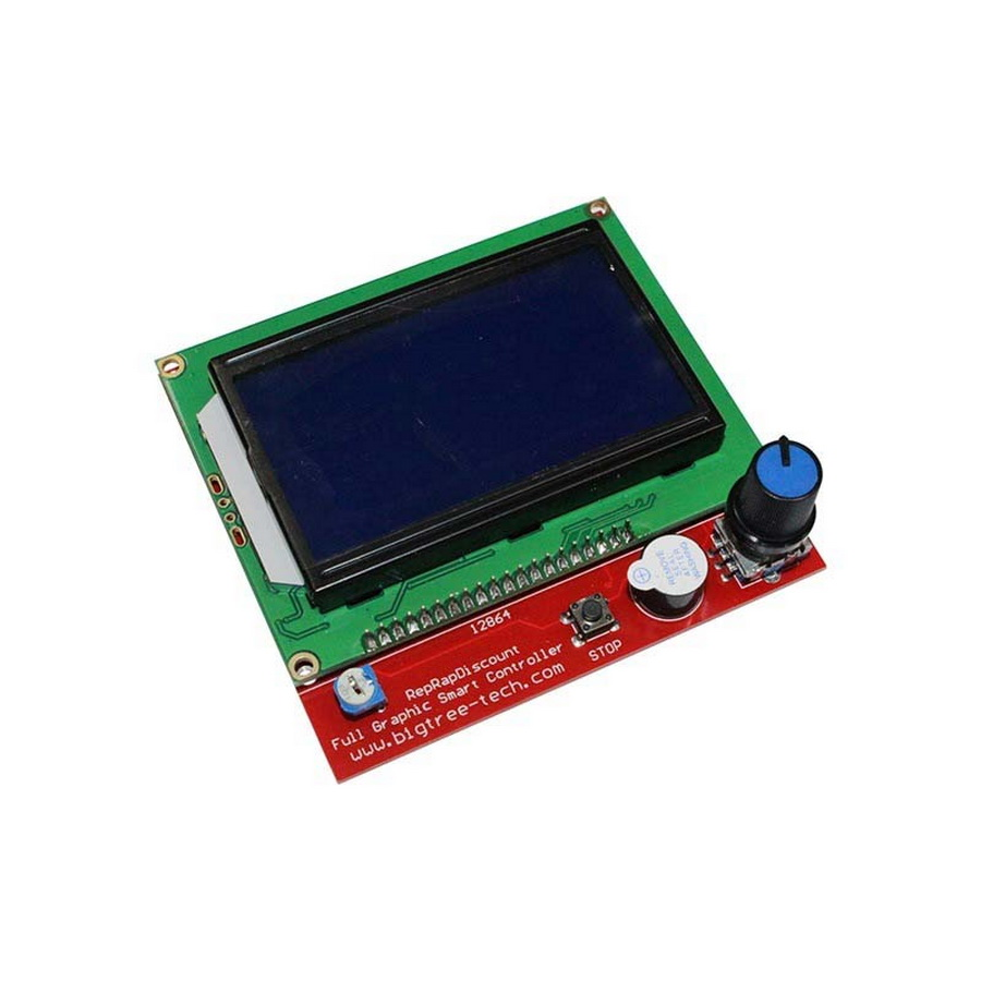 100pcs Ramps1.4 Lcd 12864 Lcd Control Panel For 3d Printer Smart Controller Beautiful In Colour