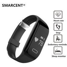 SMARCENT H3 Смарт-Группы Сердечного ритма Монитор Сна Сидячий Напоминание Браслет Bluetooth 4.0 Фитнес-Трекер Часы Для IOS Android