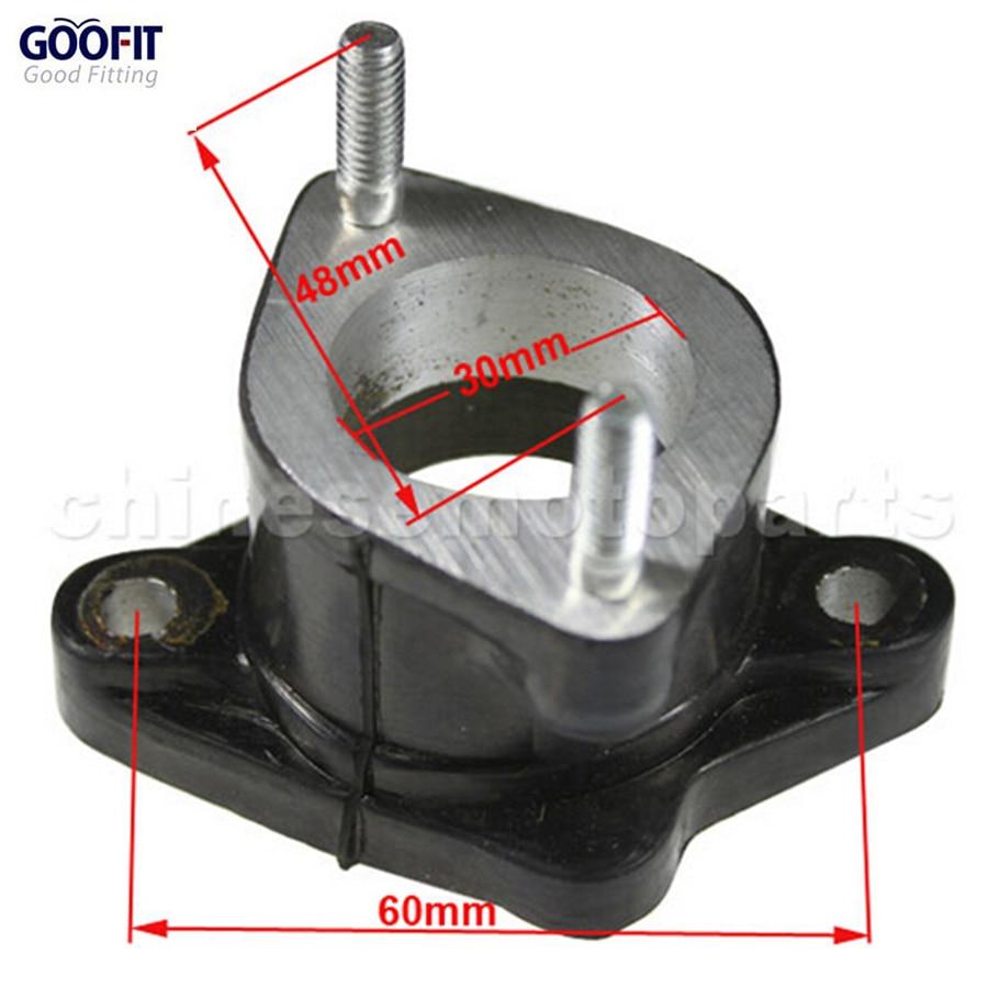 GOOFIT 30mm Motor Intake Spruitstuk Pijp fit CG 200-250cc ATV Crossmotor & Go Kart P091-022
