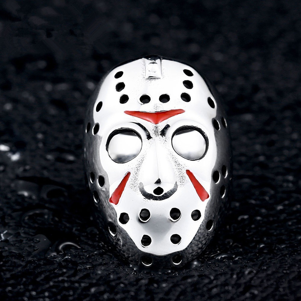 Friday the 13th Movie Cos Ring Jason Face Cos Prop Ring Gift Cosplay Prop Drop Ship