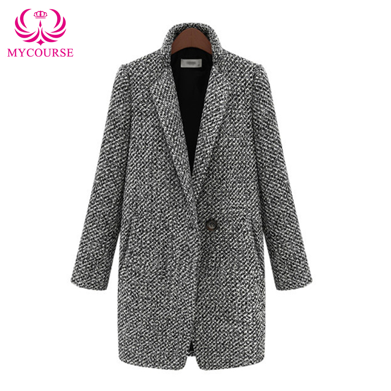 Aliexpress.com : Buy MYCOURSE Fashion Women's Grey Wool ...