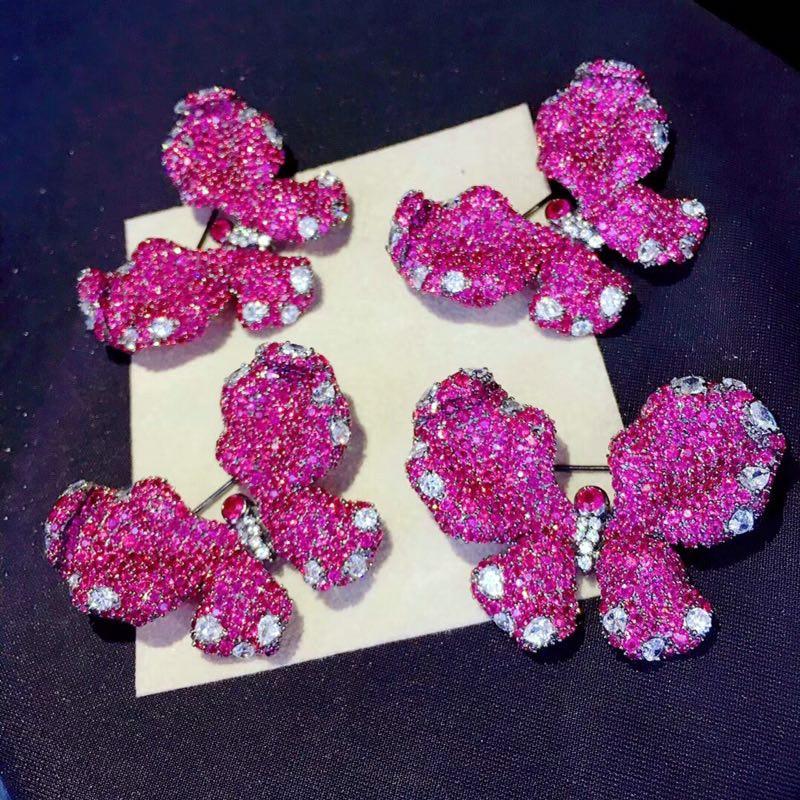 Qi Xuan Trendy Jewelry Elegant Beau Papillon Ring S925 Solide Argent Mode Papillon Ringh Manufacturer Directement Vente - 3