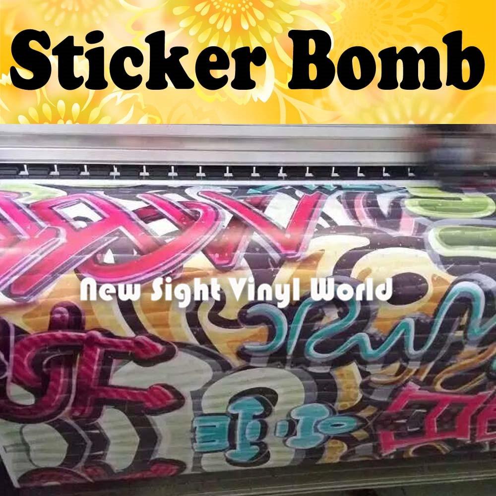 graffiti sticker bomb vinyl film sticker bombing graffiti vinyl wrap bubble free auto graphics. Black Bedroom Furniture Sets. Home Design Ideas