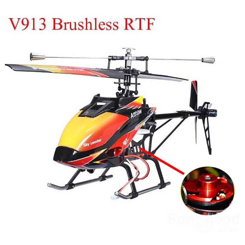 WLtoys V913 Brushless Version V913B 4CH  Big RC Helicopter RTF 2.4G with  Brushless Motor wltoys v383 500 electric 3d 6ch rc quadcopter rtf 2 4ghz with brushless motor esc