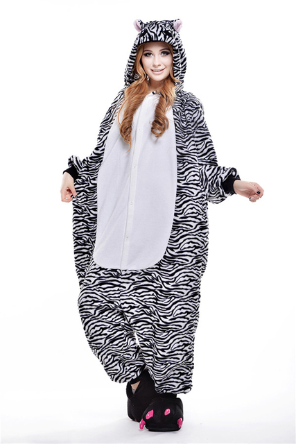 f29513f7bc7c Pyjamas Entero Women Sleep Pajamas Sleepwear Animal Pajamas One Piece Pyjama  zebra Femme Home Clothing Pigiami Mujer