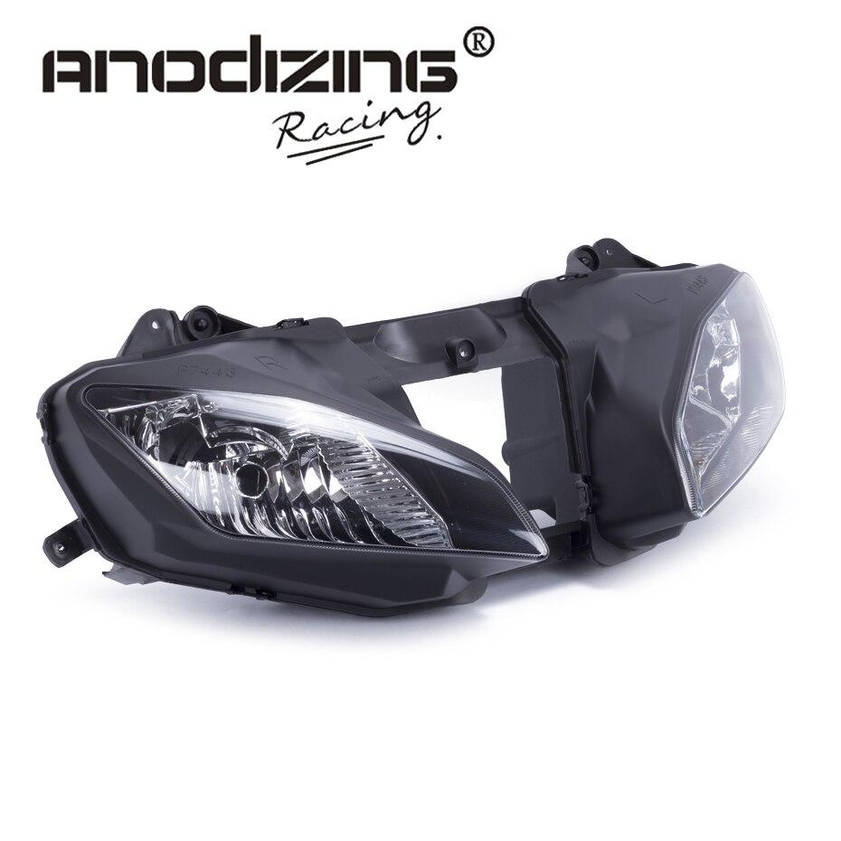 все цены на FREE SHIPPING Motorcycle Clear Lens Headlight Headlamp Case For Yamaha YZF R6 2008-2015 Front Head Light Assembly Housing онлайн