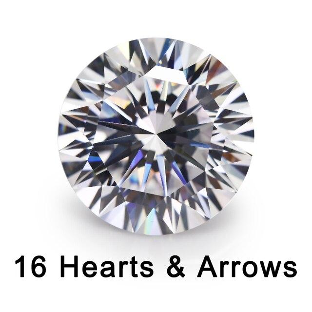 5 шт 4 мм ~ 10 5a белый круглый 16 сердец и стрел огранки кубического