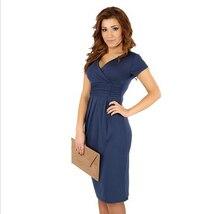 Maternity clothes dress for pregnant V-neck short-sleeve cotton pregnancy dress summer elastic waist maternity dresses