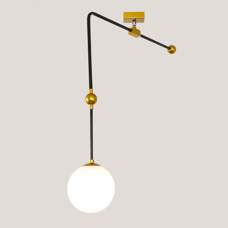 Modern Simple Dining LED Lights Postmodern Iron Designer Restaurant Pendant Light Nordic Mediterranean Sea Bar Lights цена