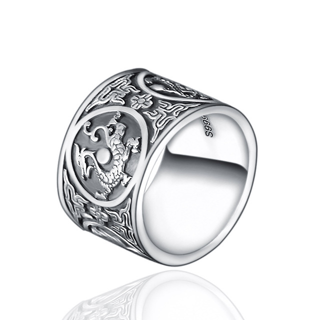 Chinese Traditional Culture 999 Sterling Silver Ring