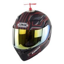 Motorcycle Full Face Helmet Biker Casque Moto ABS Motocross Helmet Capacete Dual Lens ECE Casco Moto Personality Decoration недорго, оригинальная цена