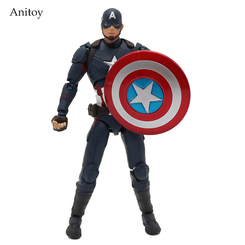 SHF Figuarts SHFiguarts  Captain America PVC Action Figure Collectible Model Toy 15.5cm KT3909 anime cartoon doraemon cosplay iron man captain america pvc action figure collectible toy
