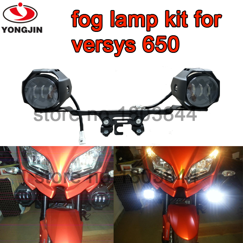 LED Auxiliary Fog Lights Assembly For Kawasaki Versys 650  2016 Year