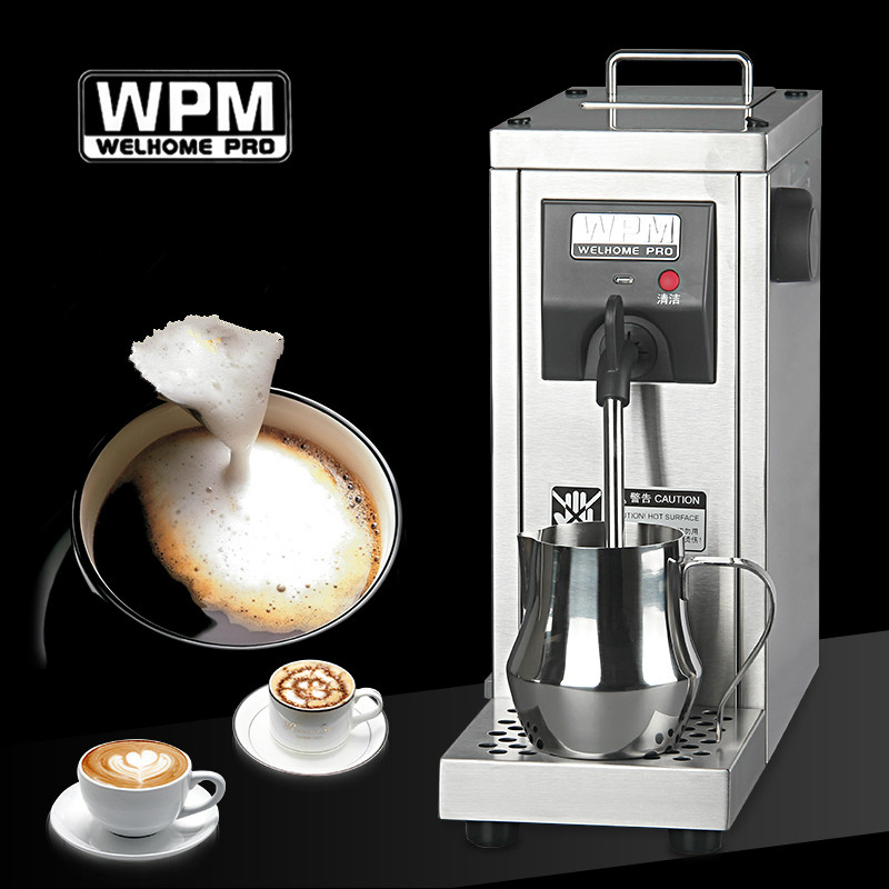 Welhome Commercial stainless steel professional milk frother/milk steamer/Milk foaming machine for cappucinno and latte 220V machine