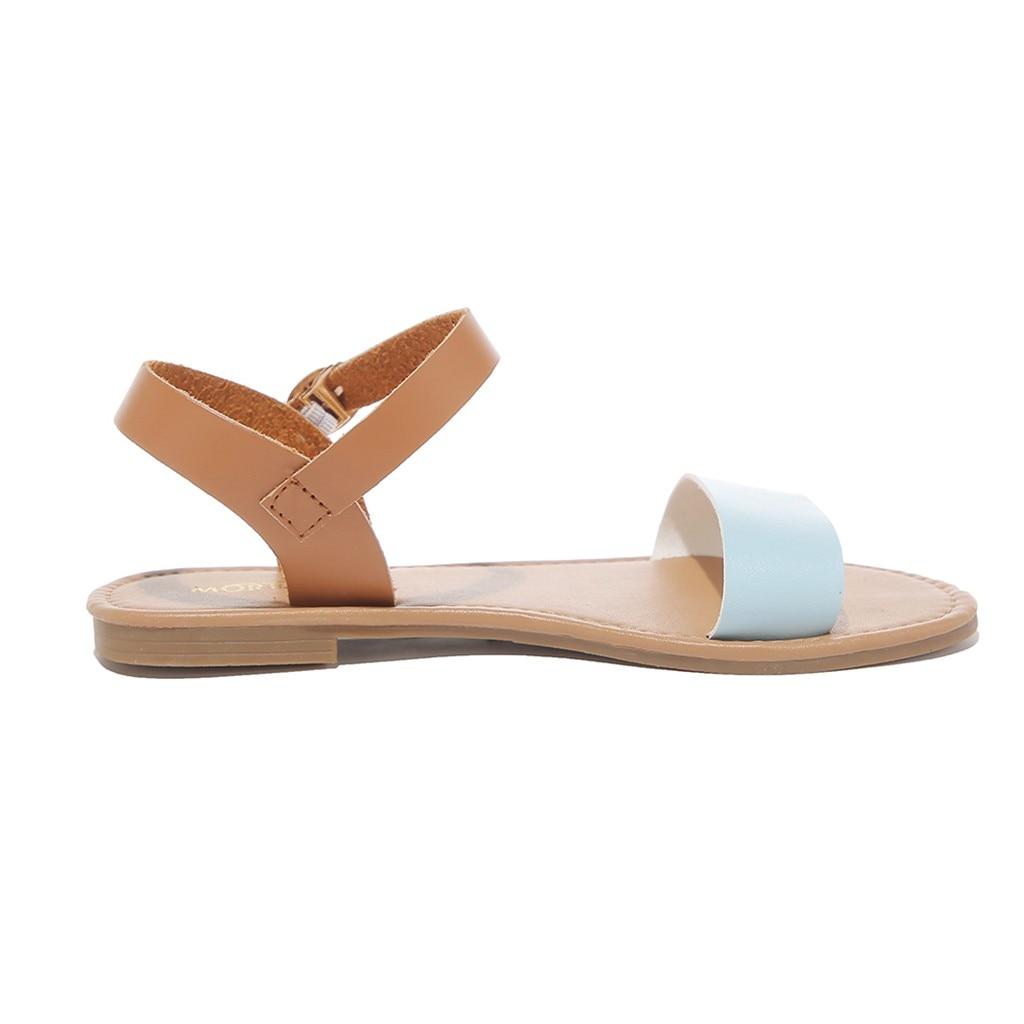 HTB1A8kUQmzqK1RjSZPcq6zTepXaJ SAGACE Women's Sandals Solid Color PU Leather Sandals Women Fashion Style Flat Summer Women Shoes Women Shoes 2019 Sandals 41018
