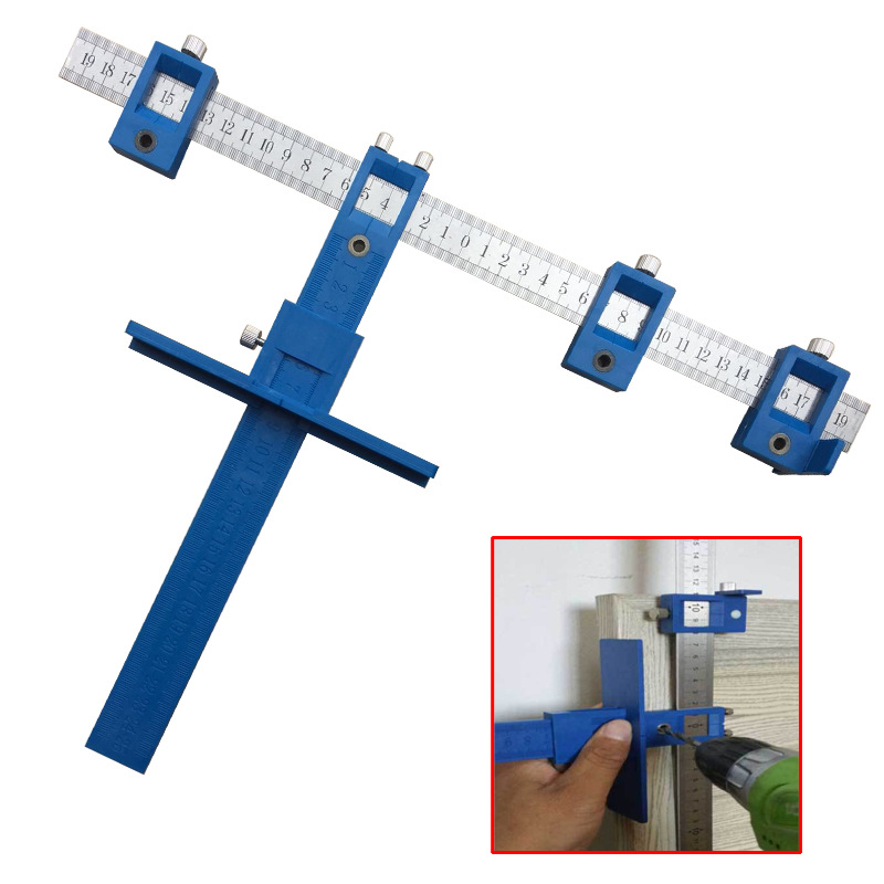 Home Use Tool Drill Guide Sleeve Cabinet Hardware Jig Drawer Pull Jig Wood Drilling Dowelling Hole Saw Master System daniu 1pc drill guide sleeve cabinet hardware jig drawer pull jig wood drilling dowelling woodworking tool new