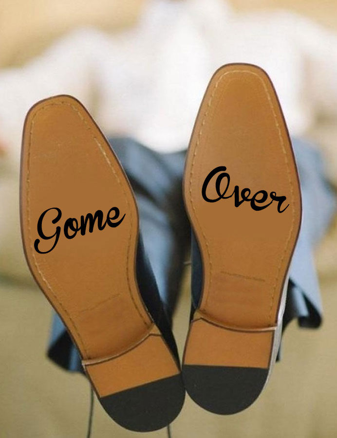 Game Over Decal, Game Over Vinyl Sticker , Groom Bride Love Decal , Marriage Hubby Gift WEDDING Adhesives Muraux WD29 thumbnail